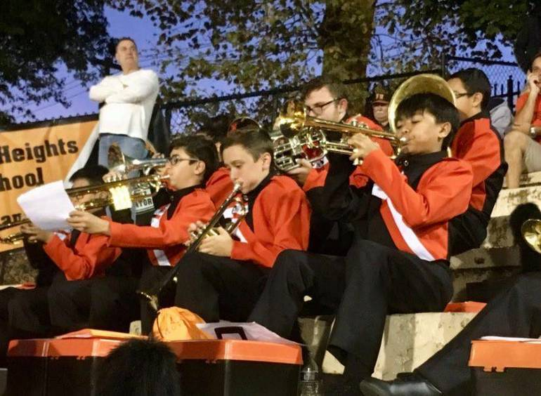 Marching band in stands trumpets from Linda Byrne.jpg