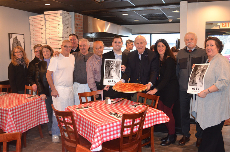 Opening of Max's Pizza in Scotch Plains.