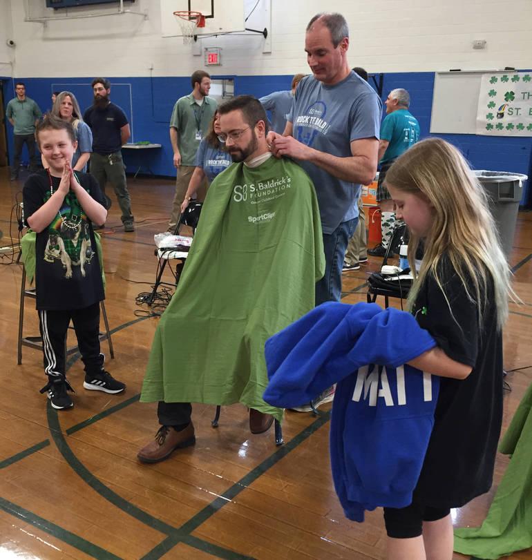 Matt Adonis gets ready to shave Mr As beard.JPG
