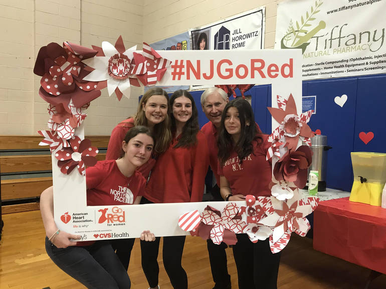 Mayor Smith and girls at Red event.jpg