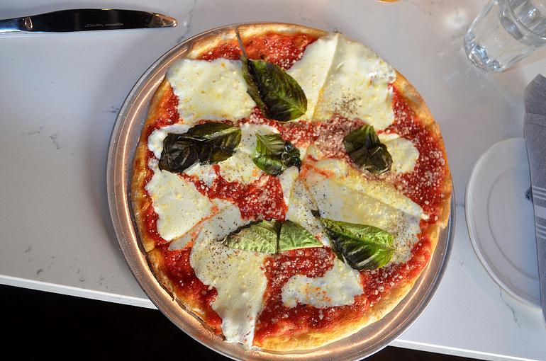 Margarita pizza at Grano Pizzeria & Italian Tavern in Scotch Plains.