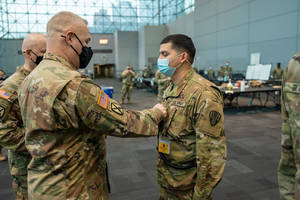 Plainfield Man Receives New Rank, Responsibilities as National Guard Soldier