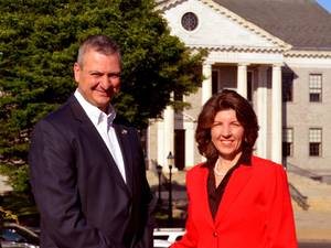 Carousel image 6c667f57ca9a289e6cb5 mark and kathy in front of borough hall 3