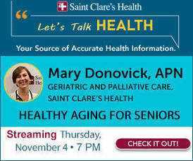 SAINT CLARE'S HEALTH SERIES: 'LET'S TALK HEALTH': Healthy Aging For Seniors