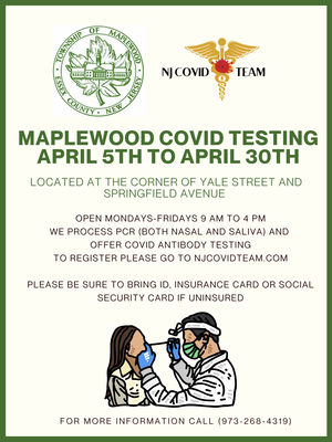 Maplewood Restarts COVID-19 Testing in Town as Cases Continue to Rise