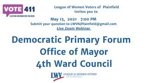 League of Women Voters to Host Virtual Candidate Forum for Primary Elections