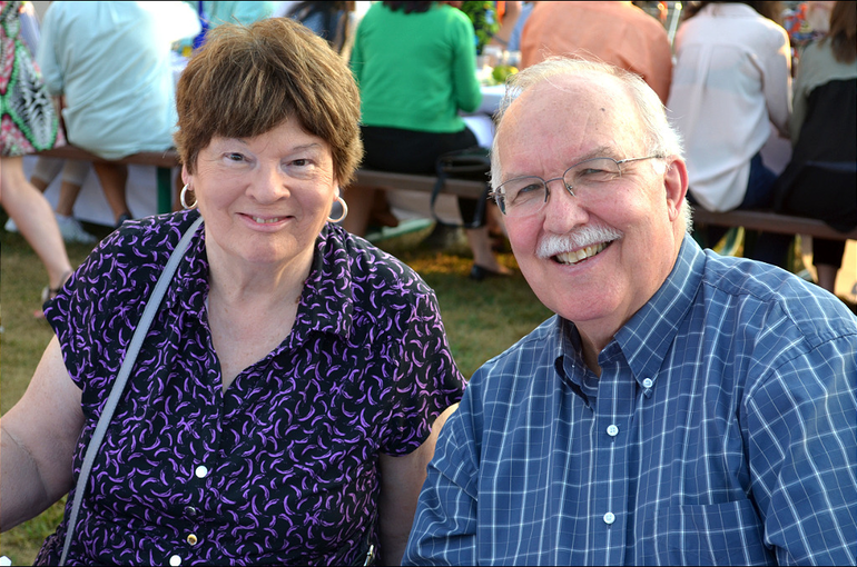 """Eileen and Joe McCourt at the Scotch Plains Market's """"From Farm to Table"""" fundraiser."""