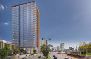 Plans to Construct 25-Story Apartment Building in Central Ward Get OK From Planning Board