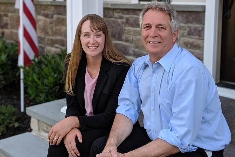 Melanie Mott and Pete Smith