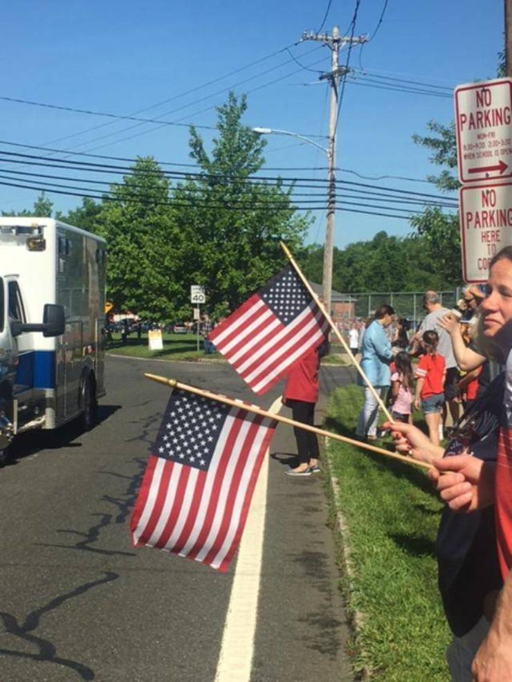 Memorial Day parade honoring veterans and those who serve