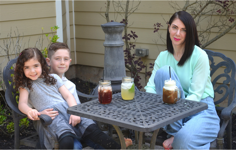 Melody DeGaetano with daughter, Simone, 5, and son, Jackson, 9.png