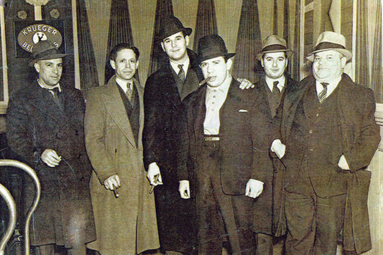 Members of the Minutemen, with its founder, Nat Arno, with cigar.jpg