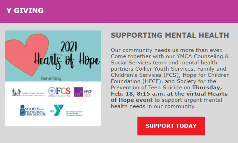 YMCA and Mental Health Partners Holding Breakfast Event
