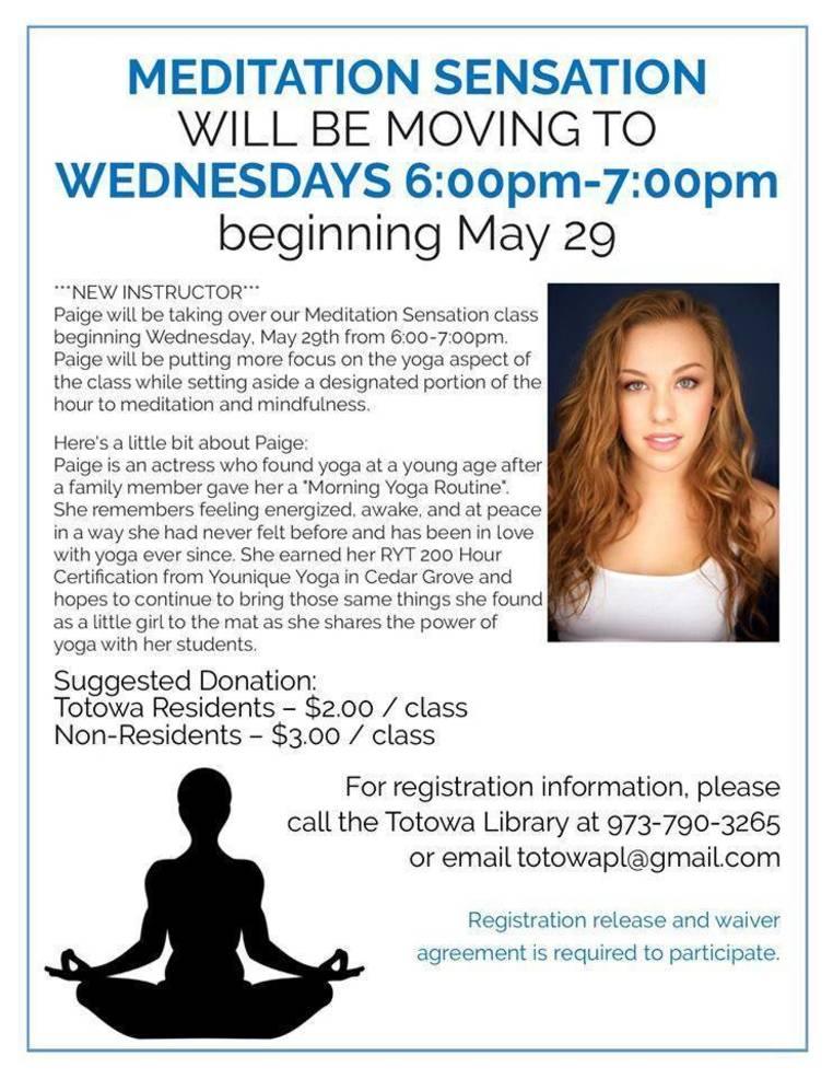 Meditation Sensation Flyer