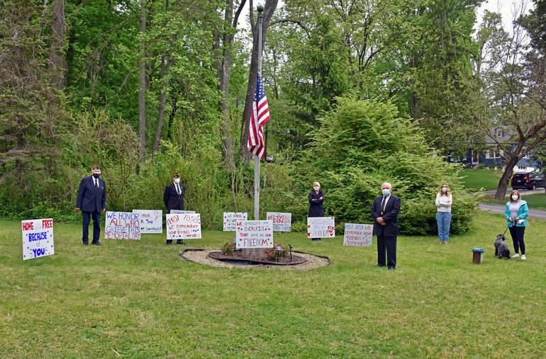 'Socially distanced' Memorial Day ceremony