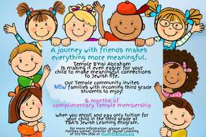 Special Offer for New Families with Incoming Third Graders at Temple B'nai Abraham