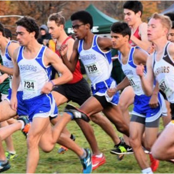 Miles Roper (center) is a member of the Scotch Plains-Fanwood HS track team.