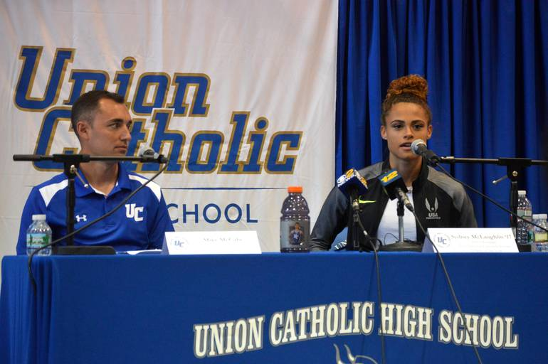 Mike_McCabe with Olympian Sydney McLaughlin