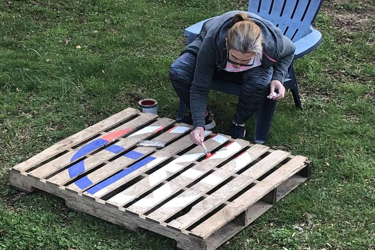 painted shipping pallets westfield nj