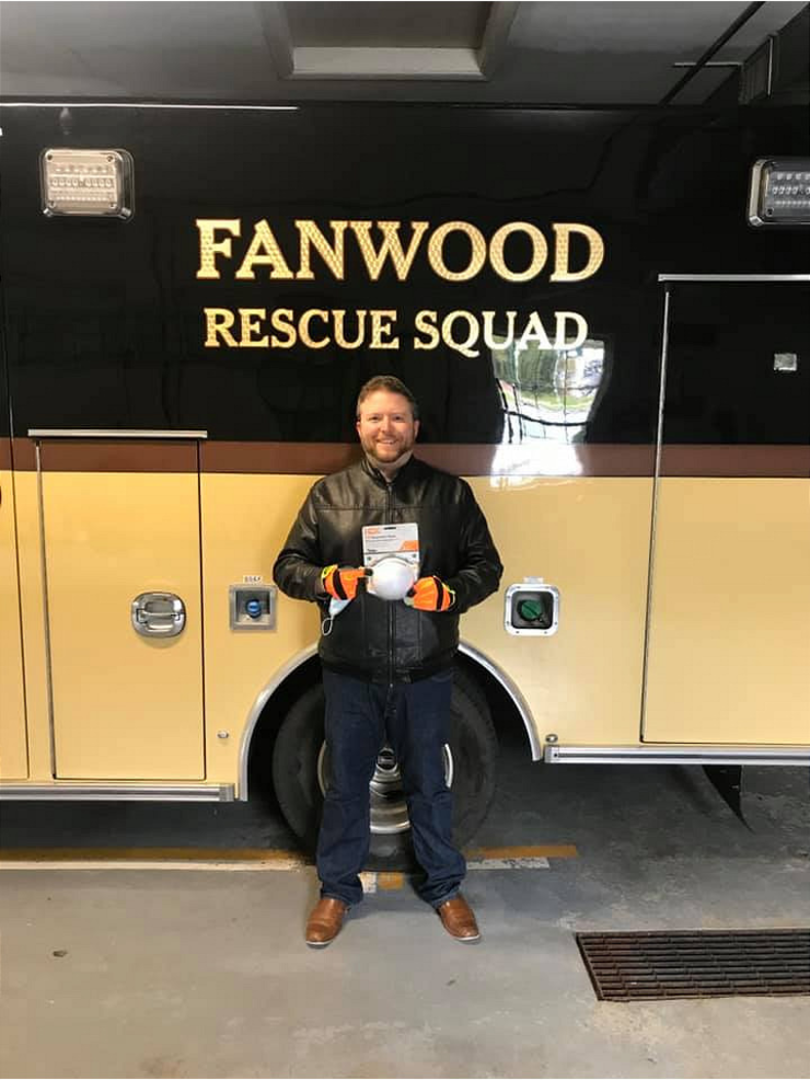 Michael Pollack donated N95 masks to the Fanwood Rescue Squad.png