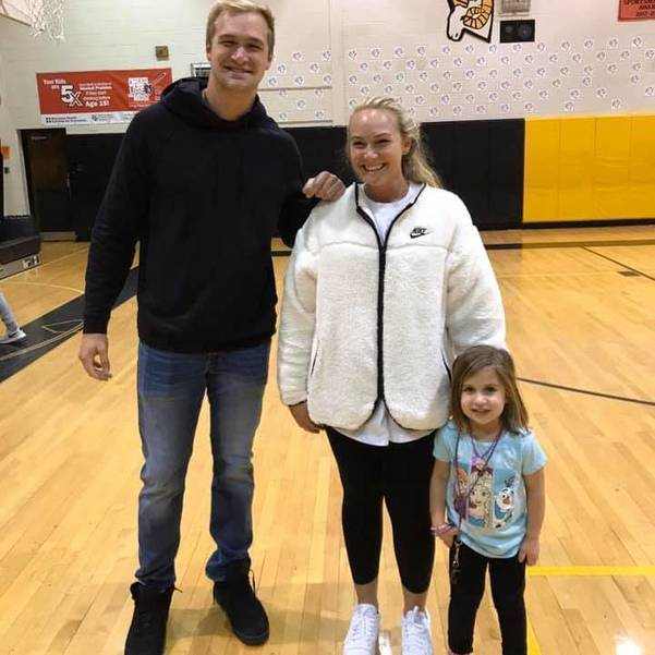 Gesicki with Sister Kelsey and Coach Adams Niece