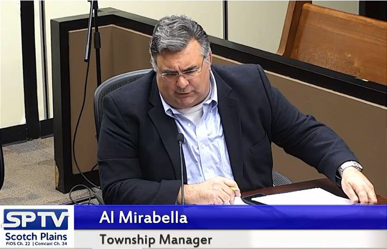 Scotch Plains Township Manager Al Mirabella