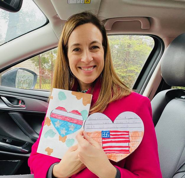 Mikie Sherrill with Valentines for Veterans.JPG