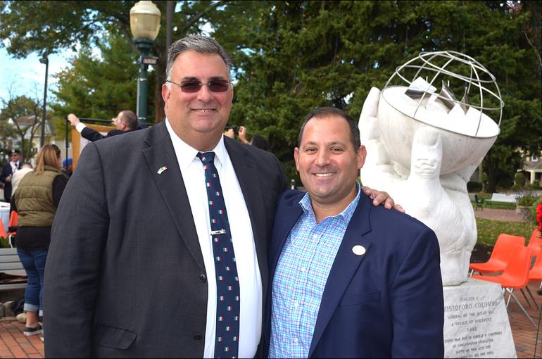 Scotch Plains Township Manager Al Mirabella and Councilman Josh Losardo