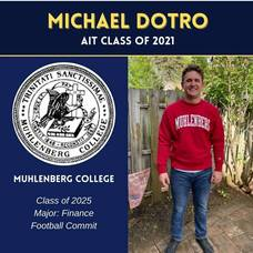 Kenilworth's Class of 2021's Michael Dotro is Headed to Muhlenberg College