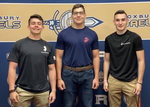 Military Signing: Jacob Almakis, Michael Hills, and Max Fulton