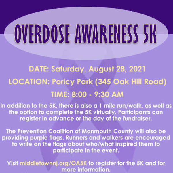 Middletown Municipal Alliance Partners with Hope for Children Foundation: 5K Fundraiser to Raise Awareness About Substance Use Disorders.