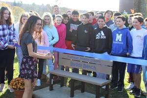 Carousel image f6006abc759c36b83845 mms buddy bench becca lomas cutting the ribbon
