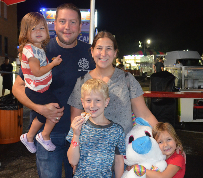 Skip Paal and his family at the St. Bart's Italian Festival in Scotch Plains on Labor Day