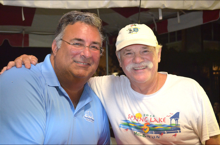 Scotch Plains Township Manager Al Mirabella and Zoning Official Bob LaCosta at the St. Bart's Italian Festival in Scotch Plains