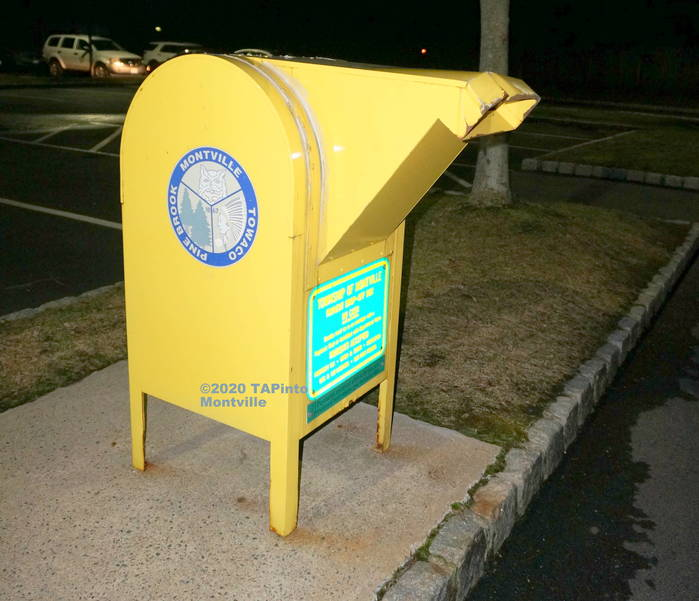 Montville Township's Yellow Payment Mailbox ©2020  TAPinto Montville.JPG