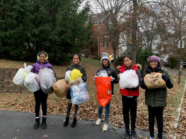 Students collect plastic for 'Trex challenge'