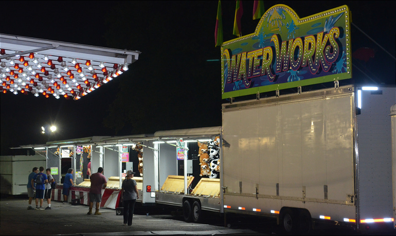Closing up the St. Bart's Italian Festival in Scotch Plains on Labor Day