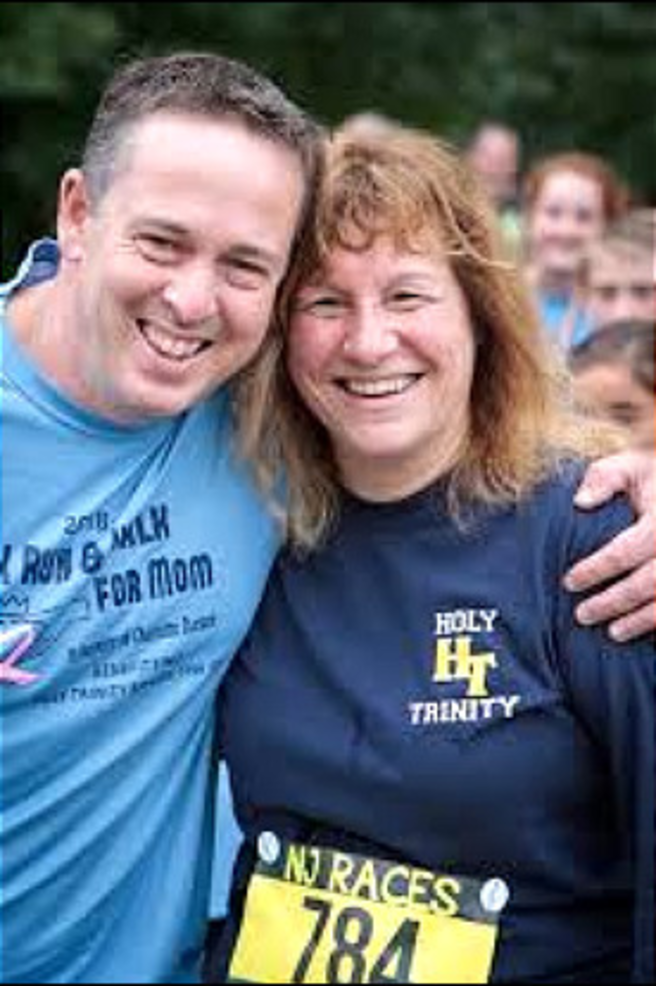 Tim Dursee of Scotch Plains and Dr. Adele Ellis, principal of Holy Trinity School in Westfield