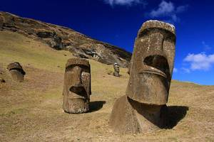 Carousel image 43e45cfe0bc97d18b643 monument statues on rapa nui or easter island