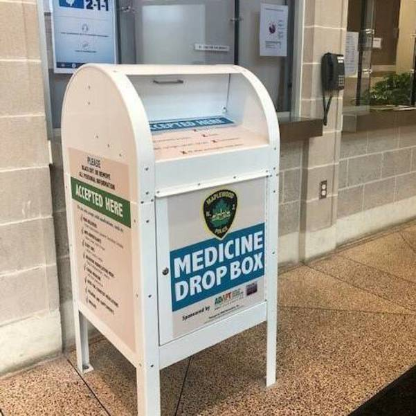 Medicine Drop Box at Maplewood Police Department New Jersey