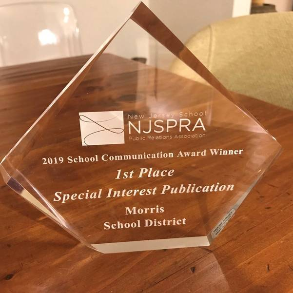 Morris School District Awarded for Outstanding School Communications