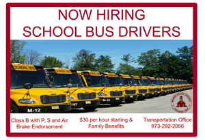 Morris School District Now Hiring District Bus Drivers
