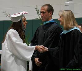 Carousel image 9756ec3079f68e42630b mths principal douglas sanford and rovtar at mths graduation 2019  2020 tapinto montville