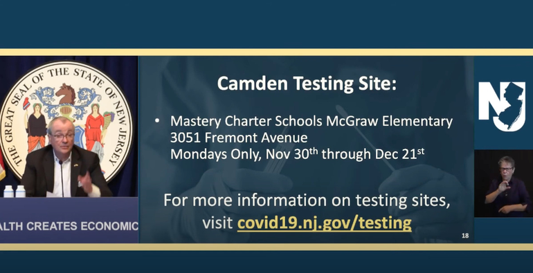 Murphy Shouts Out Camden Mastery School's COVID-19 Testing Efforts
