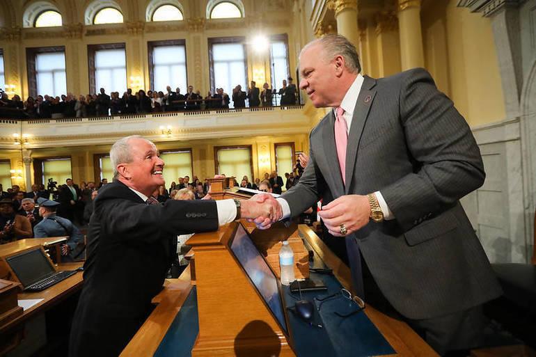 Governor Murphy and Senate President Steve Sweeney