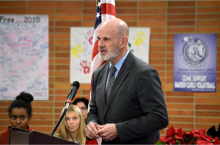 Dr. David Heisey, principal of Scotch Plains-Fanwood High School