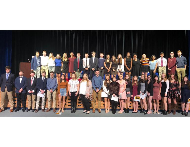 National Honor Society inductees 2019.png