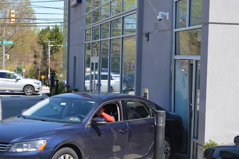 Narberth Car into Bank.JPG