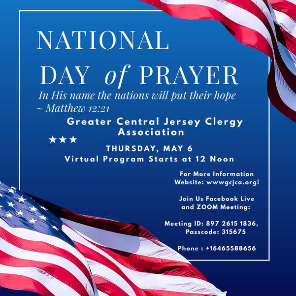 Greater Central Jersey Clergy Association Hosts Virtual National Day of Prayer Event