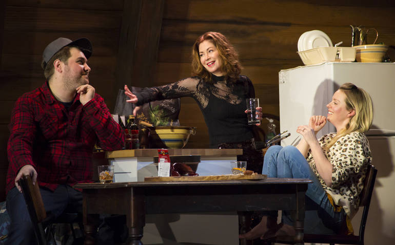 Nate Miller, Dana Delany, and Ariel Woodiwiss in Goodnight Nobody. Photo....jpg